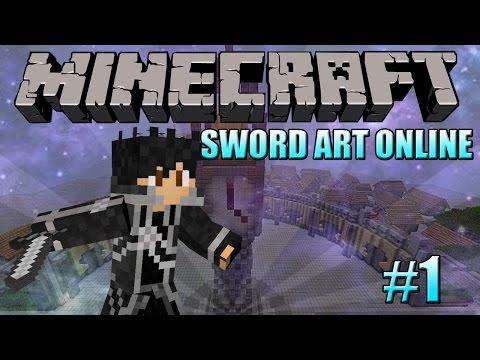Minecraft: Sword Art Online Let's Play - Episode 1 Link Start!