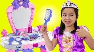 Jannie Pretend Play PRINCESS Dress Up w/ Makeup Toys