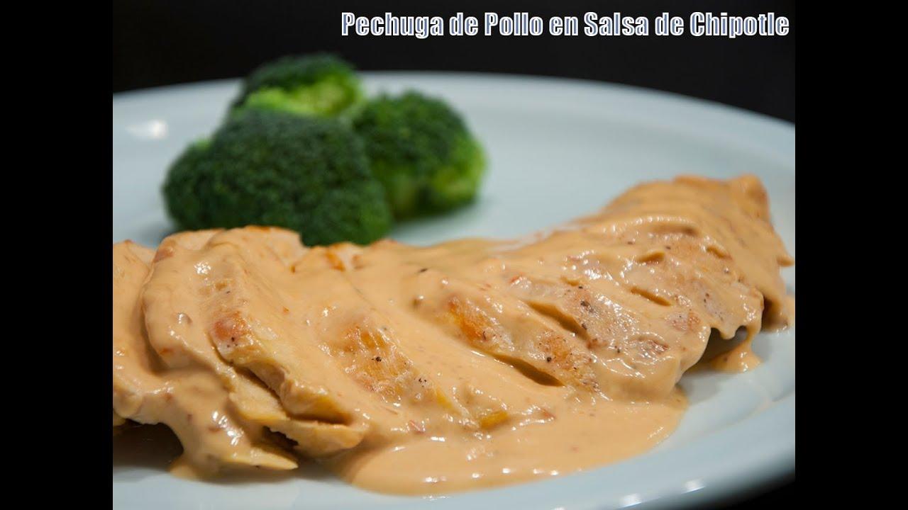 Filetes de Pollo en Salsa de Champiñones Pechuga de Pollo en Salsa de