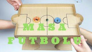 Kartondan Masa Futbolu yapm  Karton langrt oyunu