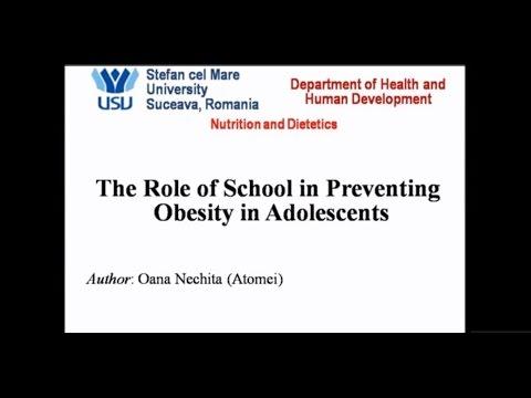 Public Health 1st DISCIPLE - Oana Nechita - The Role of School in Preventing Obesity in Adolescents