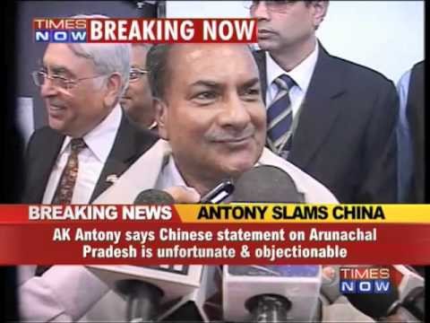 AK Antony hits out at China