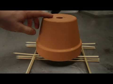 DIY Clay Flower Pot Candle Heater