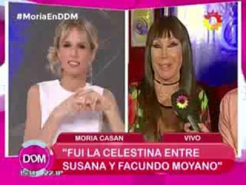 Moria Casán: Moyanito apunta a todos lados