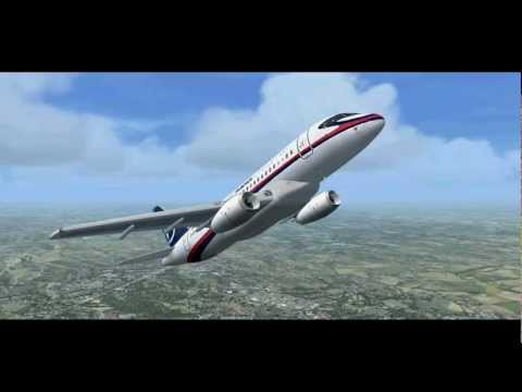 Sukhoi Superjet 100 crash simulation Mount Salak Indonesia, FSX Simulator