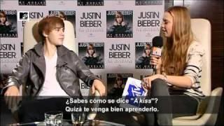 justin bieber hablando en español