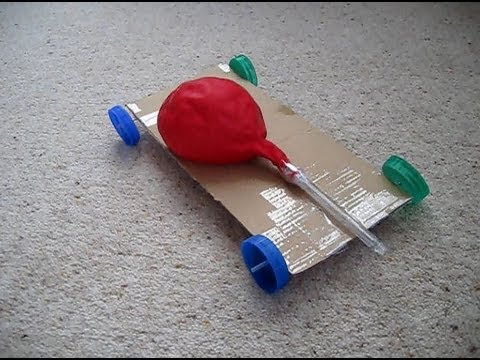 Homemade Balloon Powered Race Car