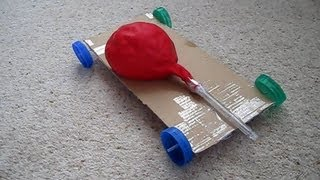How to Make an Air Powered Balloon Car