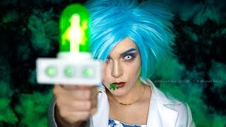 fem!Rick Sanchez Cosplay Halloween Makeup Tutorial | Day 5 of 13DoH2k18 | @ohjaechaos