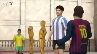 Messi Life in Cartoon