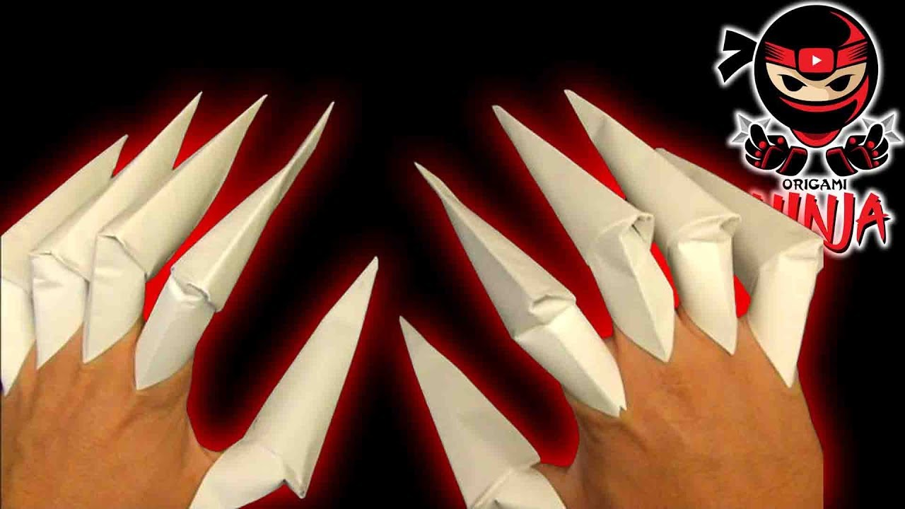 how to make origami claws youtube
