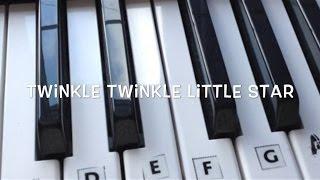 Twinkle Twinkle Little Star - Step by Step Keyboard Tutorial For Beginners