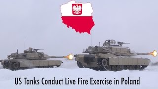 US Tanks Hold Live Fire Exercise in Poland.