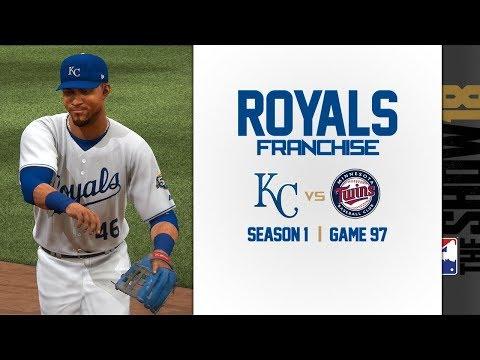 MLB The Show 18: Royals Franchise vs. Twins [G97, S1]