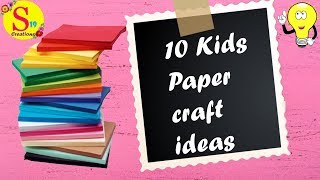 10 Adorable paper craft ideas for kids | Fun crafts for kids to do at home |