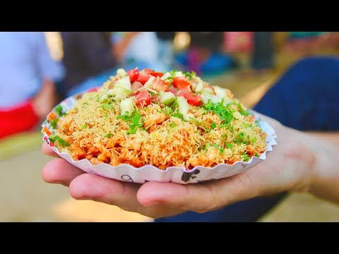 INDIAN STREET FOOD hunt in Mumbai, India - MOUTH-WATERING chaat and FAMOUS Mumbai food