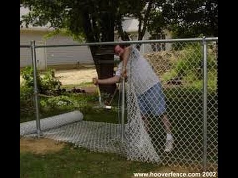 How To Install A Chain Link Fence Part 2 Youtube