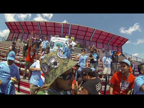 NYCFC SUPPORTERS SUPPORTING SOUTH BRONX UNITED 8-1- 2015