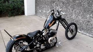 old school chopper big motor Medusa Exhaust Springer