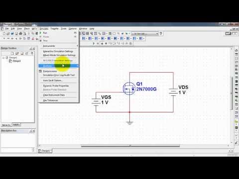 NI Multisim: MOSFET drain characteristic