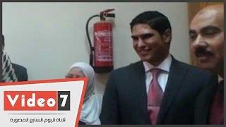 أبو هشيمة يتفقد كلية حاسبات ومعلومات بجامعة الفيوم عقب تكريمه