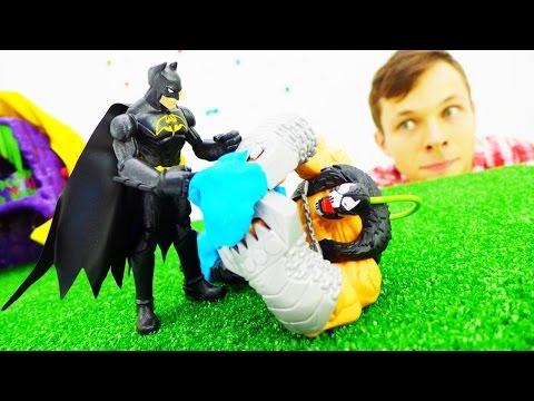 Видео для детей: Фёдор и Бэтмэн. Пластилин своими руками. Машинки и Лего. Видео про игрушки.