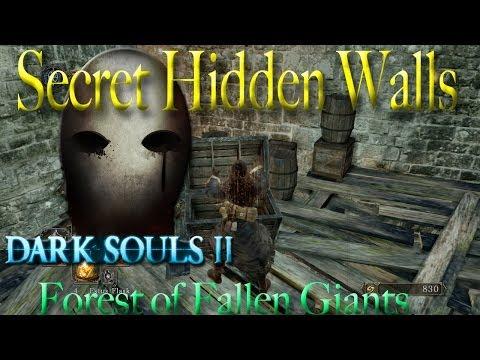 Dark Souls 2 - Forest of Fallen Giants - Hidden Walls & Secrets