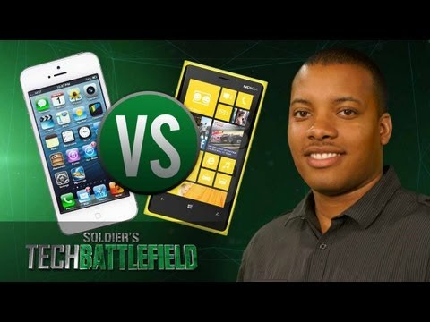 iPhone 5 vs Nokia Lumia 920 - Soldier s Tech Battlefield
