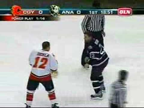 Jarome Iginla vs Francois beauchemin Fight Video
