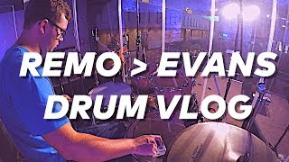 Switching from Evans to Remo // Drum Vlog