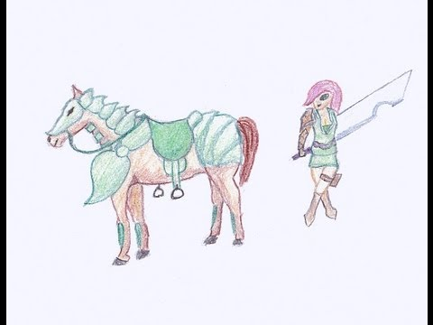 Pencil Colouring: Horse And Girl video