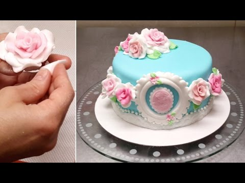 How To Make Buttercream Roses On A Cake