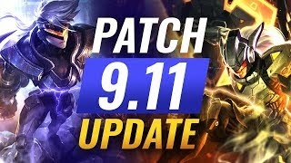 NEW UPDATE: Best Champions TIER LIST – League of Legends Patch 9.11