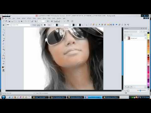 Como Fazer Foto Virar Desenho No -Corel PHOTO-PAINT X5