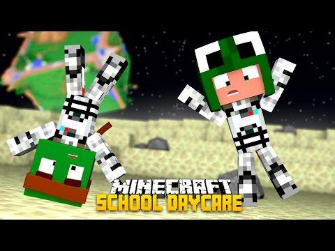 Minecraft -BABY SCHOOL DAYCARE - SAVING THE ALIENS!