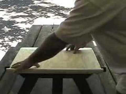 RV Repair. the Professor Fixes a Corian Stove Top