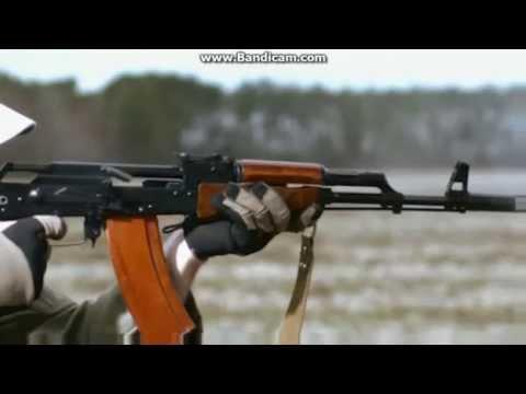 AK-47 ile yavaş çekim atış görüntüleri - Slow-motion images shot with AK- 47