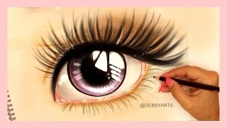 Realistic Anime Eye - Speed Drawing | DebbyArts