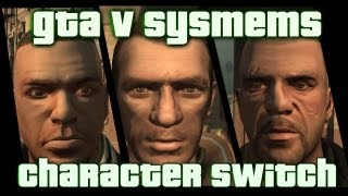 GTA V systems:character switch in free mode[my opinion]