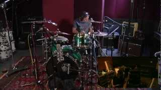 Matt Laug Tracking Drums for Holly K At Studio City Sound