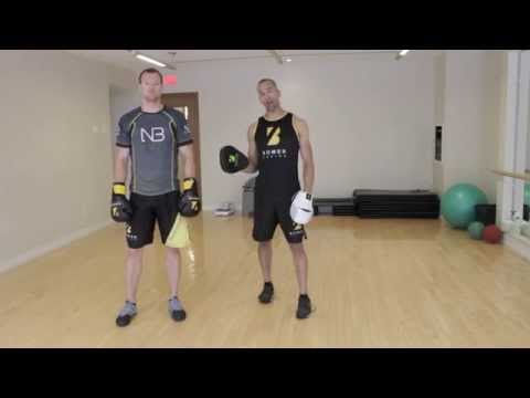 Boxing Combination Builder Series.  Advance with double hook retreat Image 1