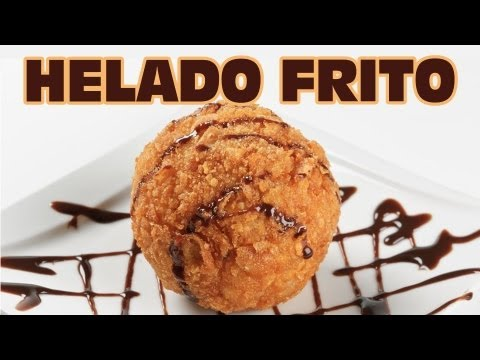 Receta muy fcil para hacer HELADO FRITO en casa en pocos minutos | Recetas de postres