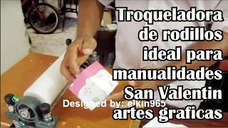 Troqueladora manual ideal para manualidades y artes graficas