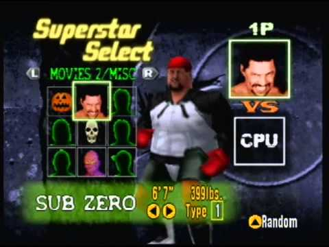 Custom WWF No Mercy N64 roster - movie+video game+fantasy characters