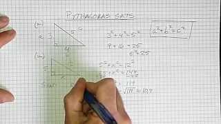 Geometri Åk 9 Del 7 Pythagoras sats
