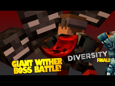 Minecraft | Giant Wither BOSS CHALLENGE | Diversity 2 FINALE