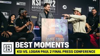 Best Moments From The KSI vs. Logan Paul 2 Final Press Conference