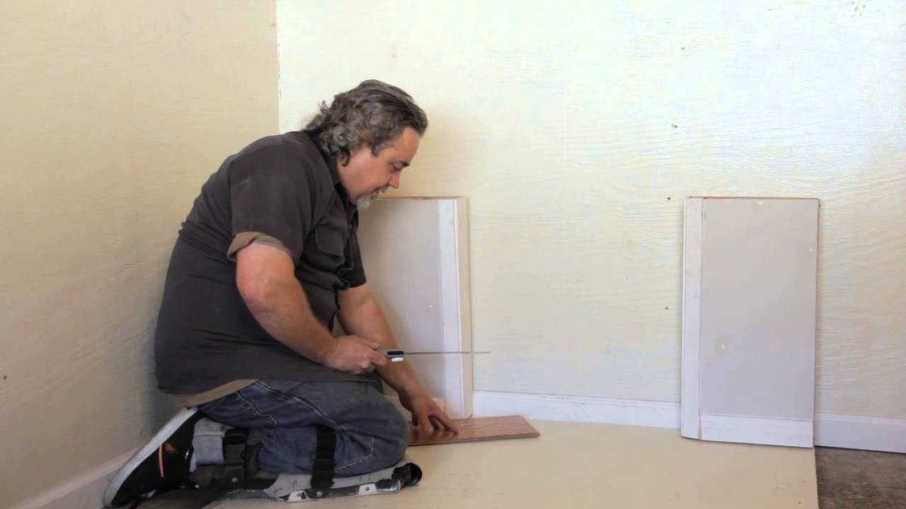 How to undercut a door frame when installing laminate for Door undercut