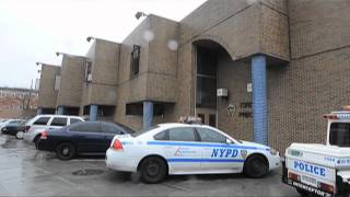 Inside the ruins of the old 65th precinct