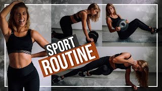 SPORT ROUTINE + mein Bauchmuskel-Training// JustSayEleanor ♡ (Krafttraining, Fitness, Motivation)